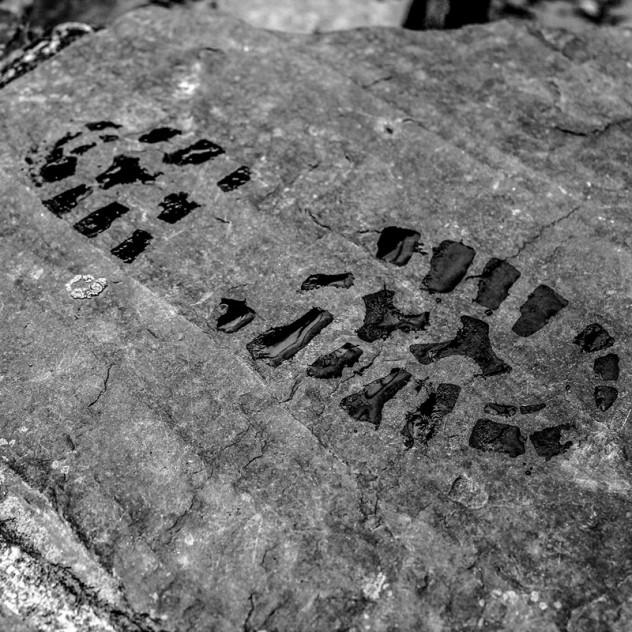 Fußabdruck Schiefer