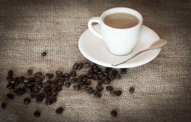 Espresso Tasse und Kaffeebohnen