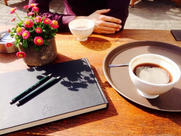 Zeichnen in Koblenz und Kaffee