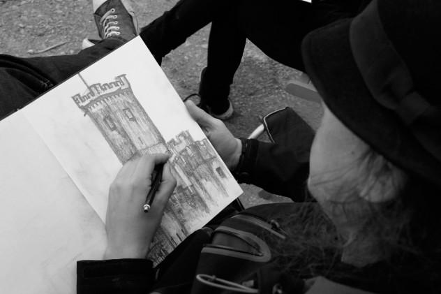 Stolzenfels-Zeichnen