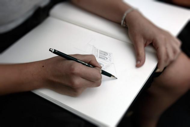 Zeichnen Maria Laach Detail