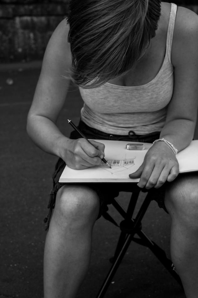 Zeichnen Maria Laach Detter