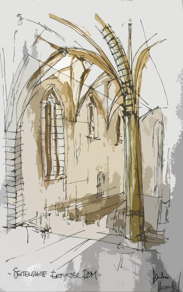 Seitenschiff Erfurter Dom