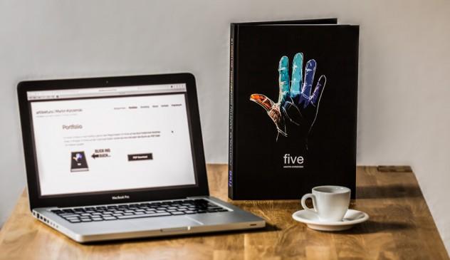 Portfolio five: frisch aus dem Druck
