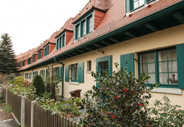 Typische Reihenhäuser in Hellerau
